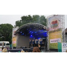 Prolyte 8m x 6m Covered Arc Roof Stage - High PA Wings