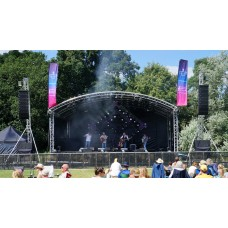 Prolyte 10m x 8m Covered Arc Roof Stage