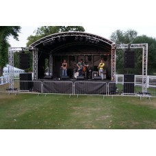 Prolyte 6m x 4m Covered Arc Roof Stage - Low PA Wings