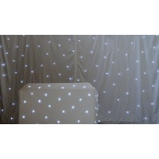 S & H 4X3m LED White Star Cloth